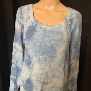 American Eagle Outfitters Blue Tye-Dyed Sweater